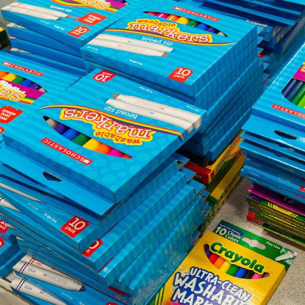 table of marker packs